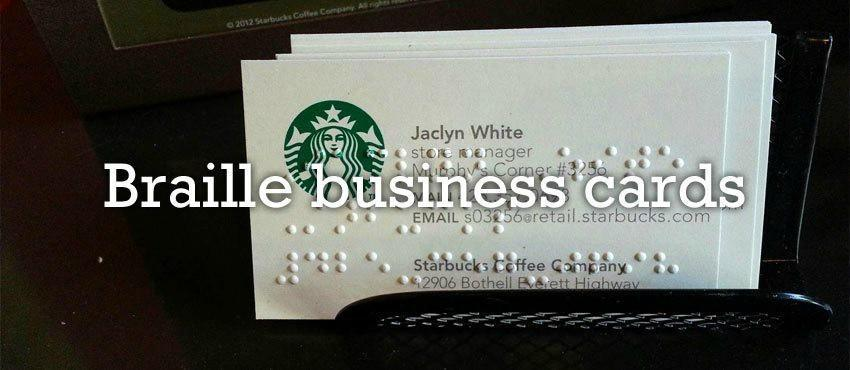 Canadian braille press braille signs ottawa toronto montreal business cards at canadian braille reheart Choice Image